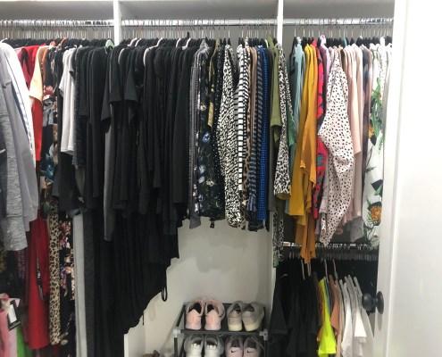 Organized closet after I organized