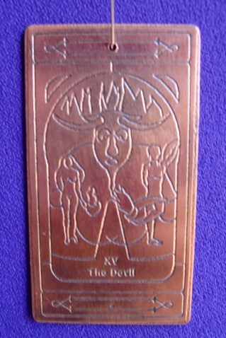 The Devil copper talisman