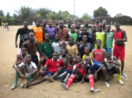 7.- A football team in Abobo, deep on Abidjan's periphery.