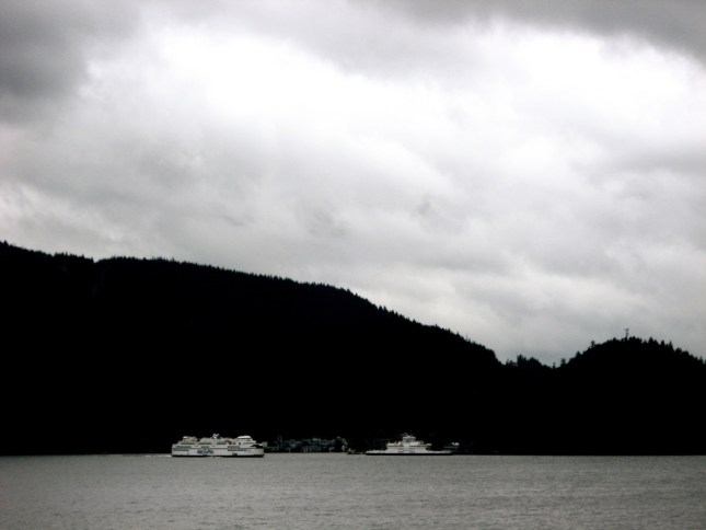 As the ferries for Nanaimo and Bowen Island move about