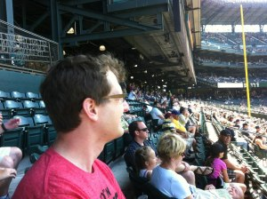 Me in the stands at Safeco Field for Felix Hernandez's perfect game on August 15, 2012