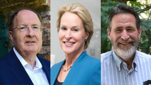 Photos of Gregory Winter, Frances Arnold, and George P. Smith