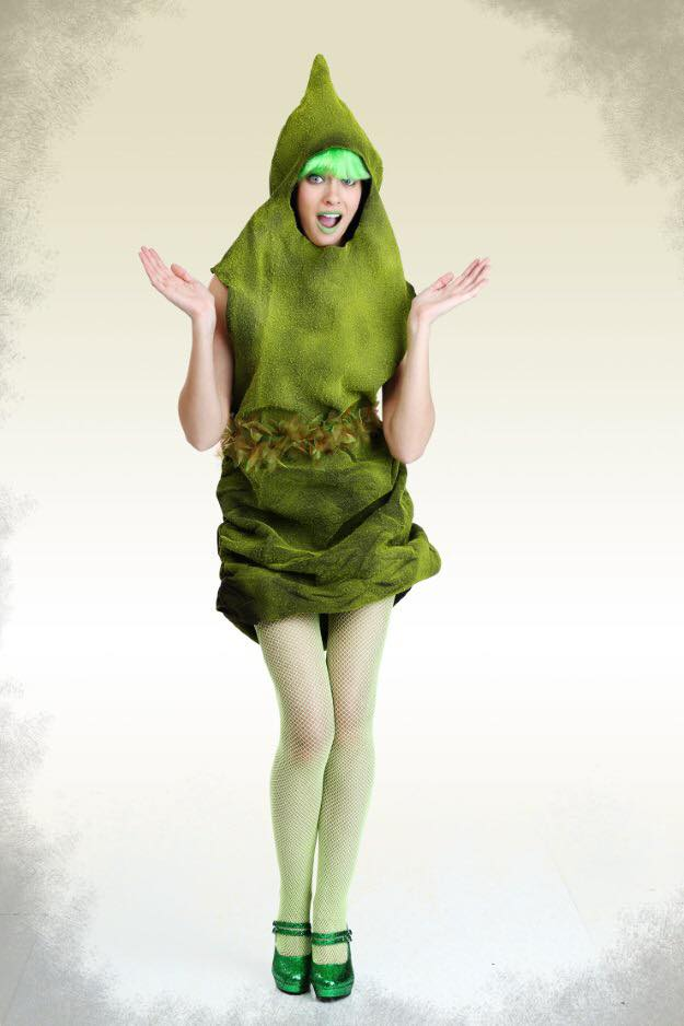 Green poo-shaped costume from too many Sexy Black Whoppers