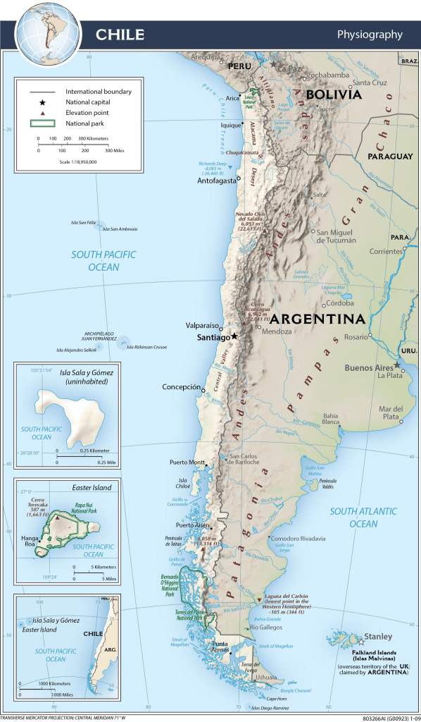 Map of Chile