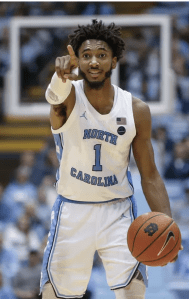 UNC guard Leaky Black moves the ball down the court