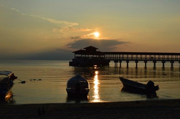 sunset of the coast of the Pentherain islands