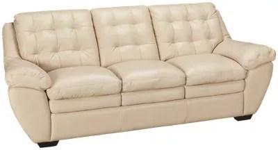 Futura Acacai Taupe Futura Acacai Taupe Leather Sofa