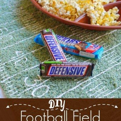 DIY Football Field Table Runner