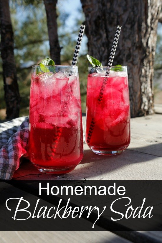 Homemade Blackberry Soda