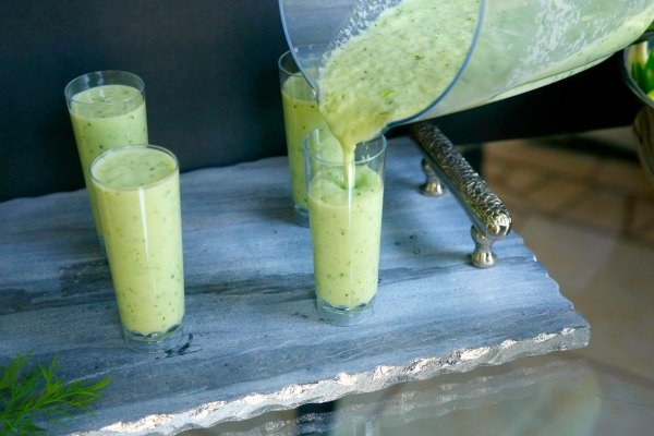 These cucumber melon shooters are quick, easy, and elegant for your next party