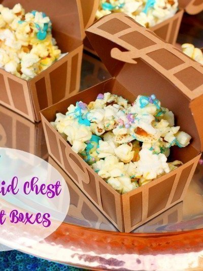DIY Mermaid Treasure Chest Treat Boxes