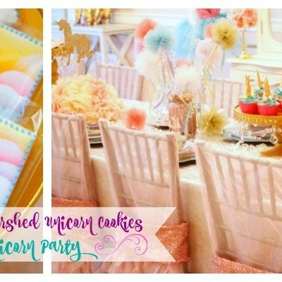 How to Make Airbrushed Unicorn Cookies and a Magical Unicorn Party