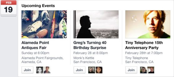 FBNews Feed - Event Sharing New Design