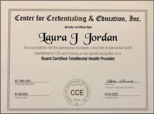 Telehealth provider certificate. At Jordan Therapy Services, we care about you safety and security. If you are looking for online counseling in indiana or online counseling in Texas, you've come to the right place. Get in contact with Jordan Therapy Services to begin online therapy today!
