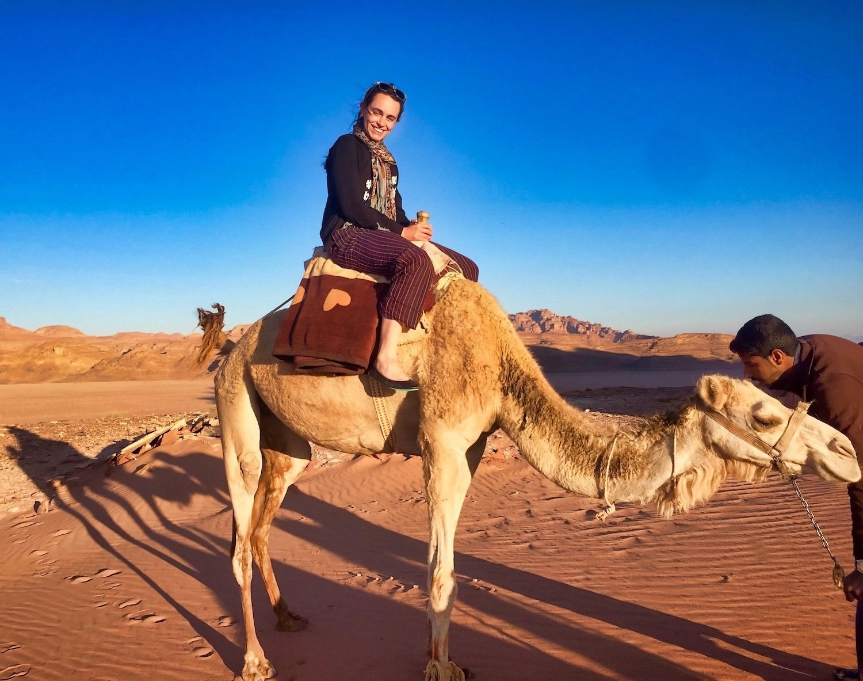 10 Days in Jordan - Valerie riding a camel