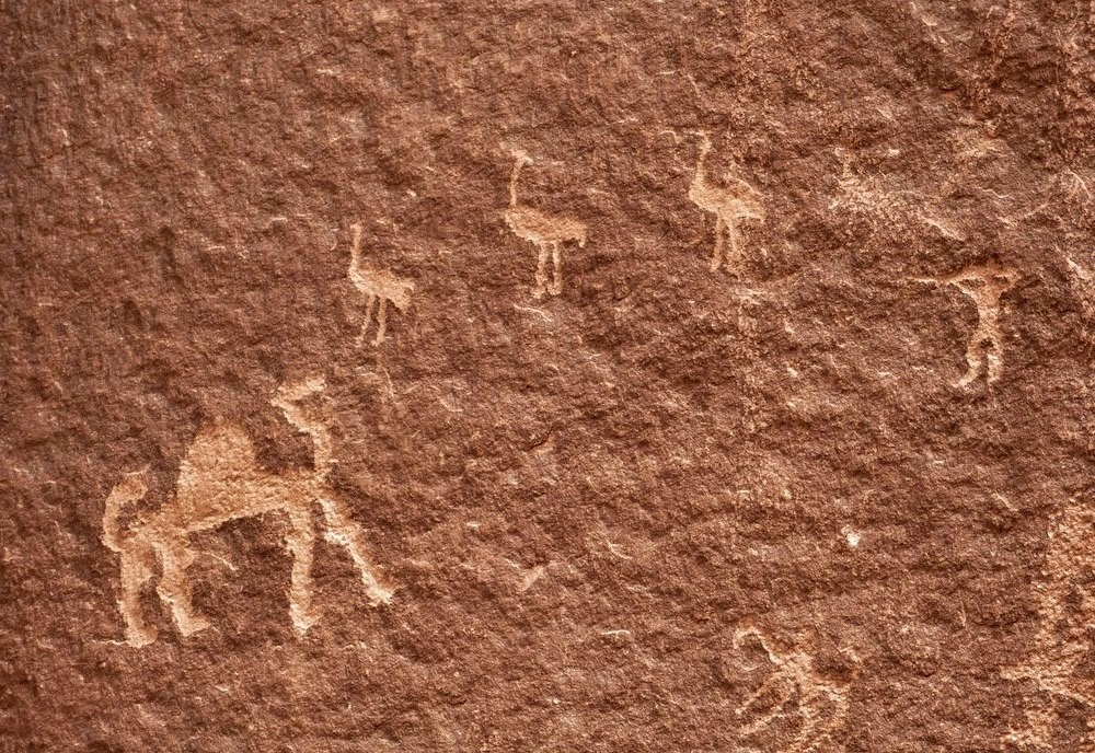 Petroglyphs in Wadi Rum