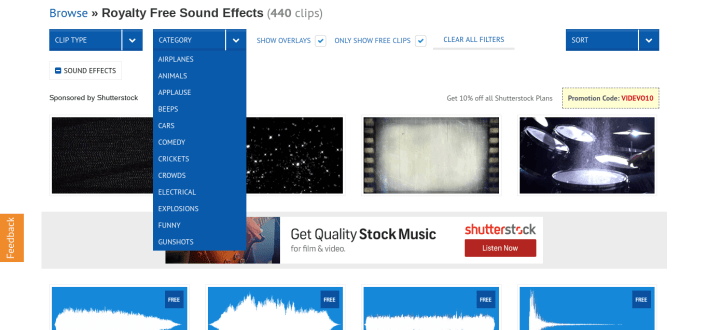 Videvo Free SFX Sound Effects Audio Commercial Use Royalty Free