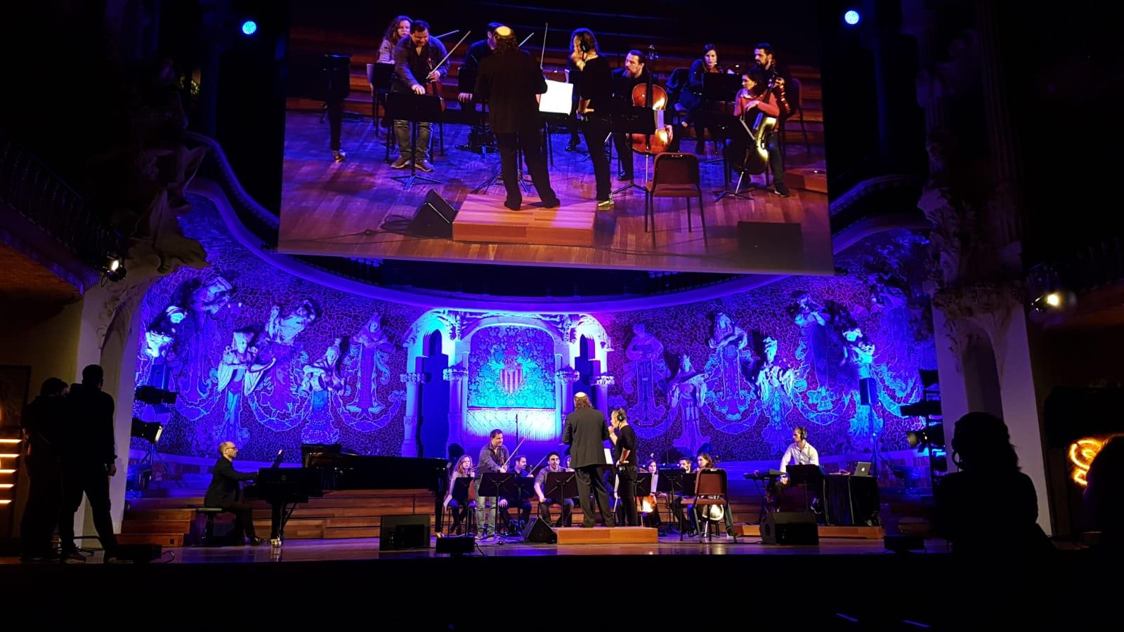 Ensayo en el Palau de la Musica Catalana