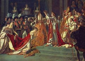 Napoleón se autocorona y corona a Josefina
