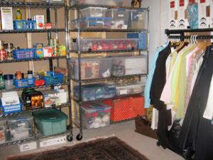 organized storage space