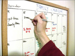 family activity calendar