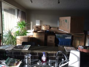 boxes from storage unit
