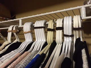 Closet organized by outfit
