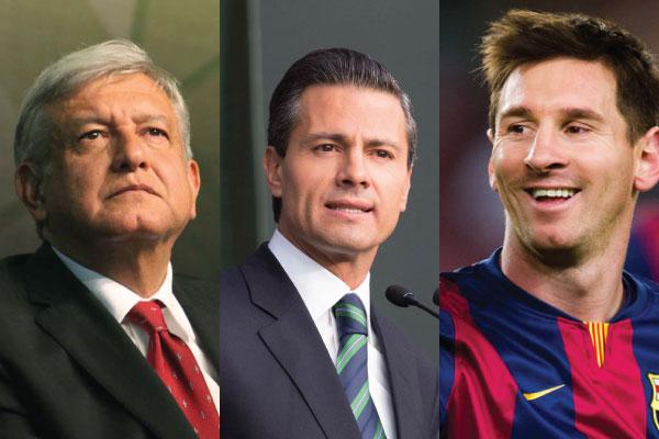 AMLO, Peña y Messi