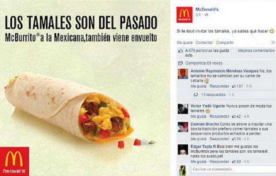 """El fracaso de McDonald's México con su campaña """"El tamal es cosa del pasado"""""""