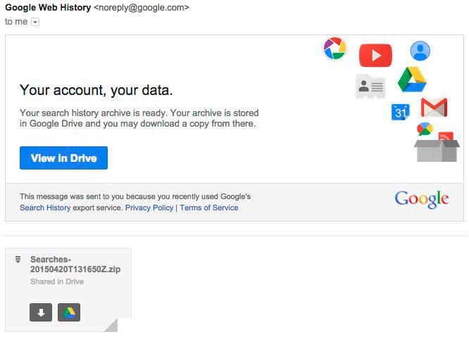 correo historial de google