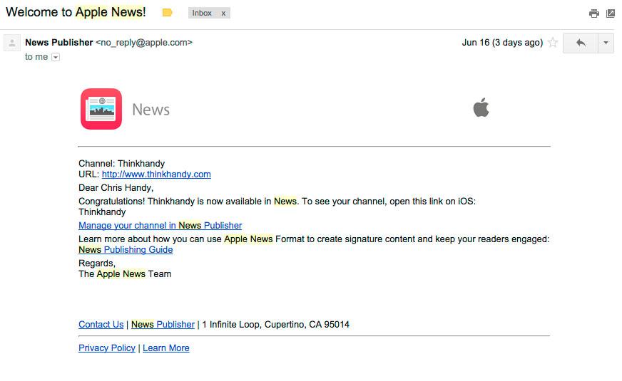 bienvenido a apple news
