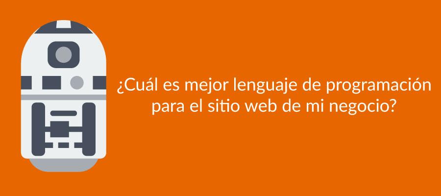 ¿Cuál es mejor lenguaje de programación para el sitio web de mi negocio?
