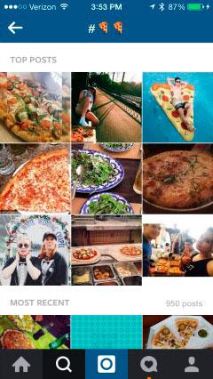 buscar en instagram con emoji
