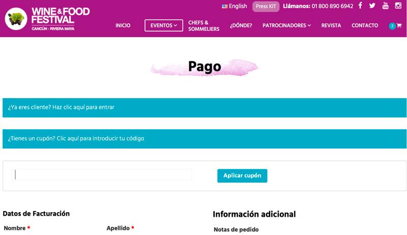 cupones en pagina de pago wocommerce mexico