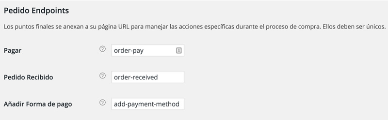 endpoints de pedido woocommerce mexico
