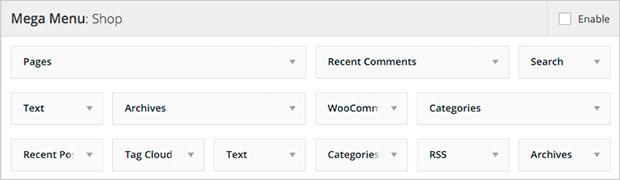 wordpress widgets para tiendas en linea