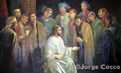 Cristo con los doce discípulos en América