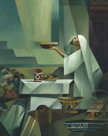 Jesus blessing the sacrament