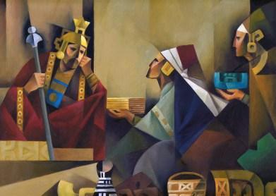 Mosiah receives Jaradite plates