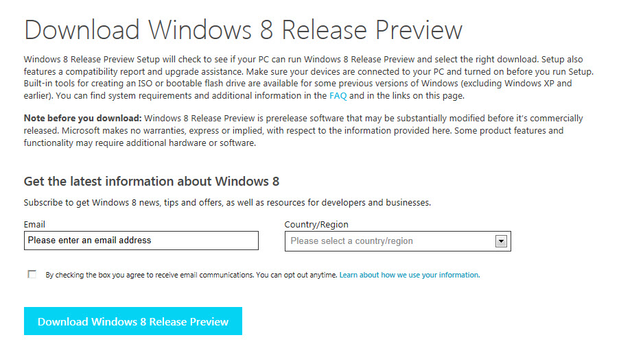 Windows 8 Release Preview Available to download! (3/4)