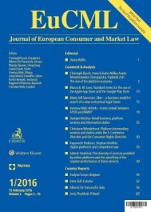 EuCML - Journal of European Consumer and Market Law