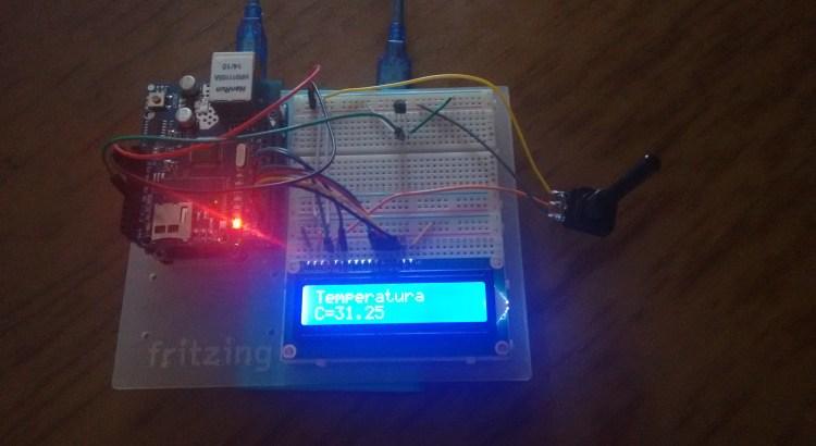 termometro LM35 arduino lcd