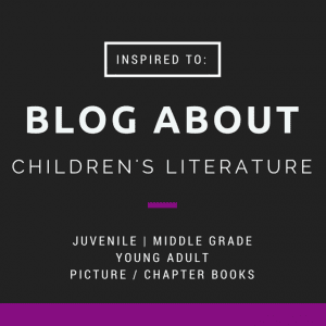 Blog About Children's Lit badge created by Jorie in Canva