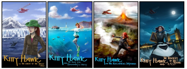 The Kitty Hawk Flying Detective Agency series by Iain Reading