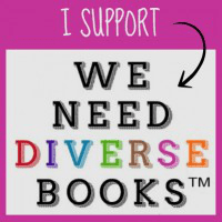 We Need Diverse Books badge provided by We Need Diverse Books and is used permission. Design Credit: Hafsah @ Icey Designs.