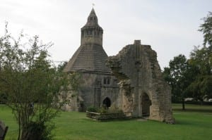 Photo Credit: Abbot's Kitchen on the grounds of the ruins of Glastonbury Abbey taken by Mary F. Burns