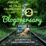 2nd Blogoversary Badge created by Jorie in Canva.