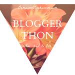 Bloggerthon badge created by Bemused Bookworm for the event; used with permission.