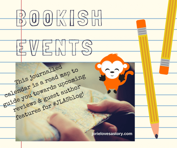 Bookish Events badge created by Jorie in Canva.