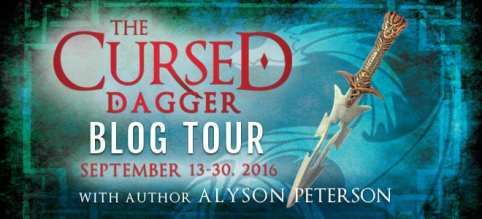 The Cursed Dagger blog tour hosted by Cedar Fort Publishing & Media